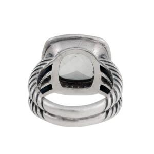 David Yurmam Prasiolite and 0.22ct Diamond Albion Ring Size 6