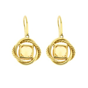 David Yurman Yellow Gold Citrine Dangle Earrings