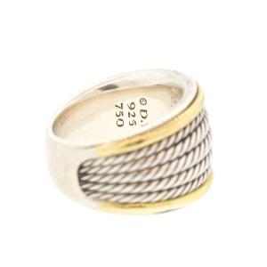 David Yurman Two Tone Cable 5 Row Ring