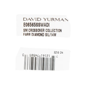 David Yurman Sterling Silver 0.44ctw. Small Hoop Earrings