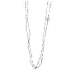 David Yurman Sterling Silver with Pearls Bijoux Chain Necklace