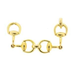 Gucci 18k Yellow Gold HorseBit Link Bracelet