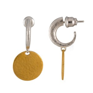 Gurhan Sterling Silver and 24K Yellow Gold Lush Drop Earrings