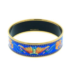 Hermes Enamel Brazil Printed Bracelet