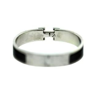 Hermes H Black Enamel Clic Clac Bracelet