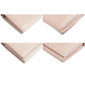 Jimmy Choo 24JK0120 Pink Leather Wallet Clutch