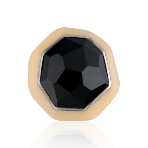 Ippolita Sterling Silver Black Onyx Resin Ring Size 7