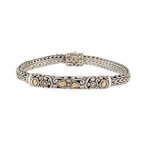 John Hardy 18K Yellow Gold Bracelet 925 Sterling Silver Bracelet