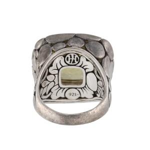John Hardy Sterling Silver Citrine Batu Kali Ring Size 7