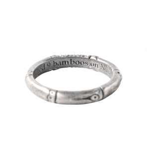 John Hardy Sterling Silver Bamboo Diamond Ring John Hardy Buy At