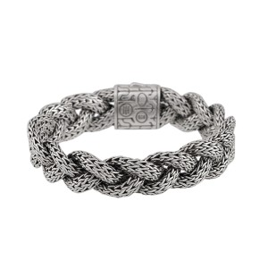 John Hardy Sterling Silver Braided Wheat Chain Bracelet