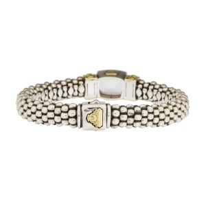 Lagos 18K Yellow Gold and Sterling Silver Caviar Quartz Bracelet