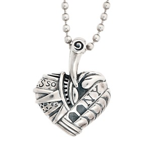 Lagos Sterling Silver Heart of New York Pendant Necklace
