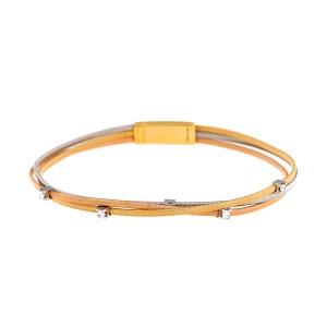 Marco Bicego 18K Tri-Color 0.15ct. Diamond Bracelet