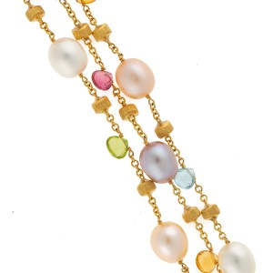 Marco Bicego 18K Yellow Gold with Paradise Mixed Gemstone Bracelet