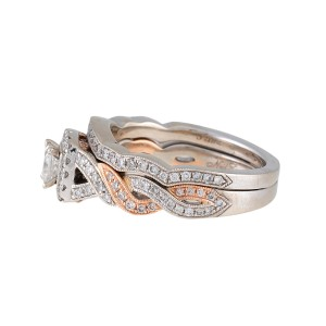 Neil Lane 14K White & Rose Gold Bridal Set Size 6