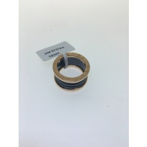 Bulgari B. Zero 1 18K Rose Gold & Black Ceramic 4 Band AN855563 Ring Size: 5.75