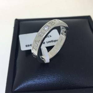 Bvlgari Bulgari 18K White Gold and Diamond Band Ring AN853348