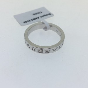 Bvlgari Bulgari18K White Gold and Diamond Band Ring AN853348