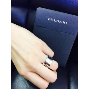 Bvlgari Bulgari B. Zero 1 18K White Gold 4 Band Ring AN191026