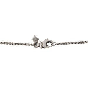 Daivd Yurman Silver Knot Necklace with Diamonds