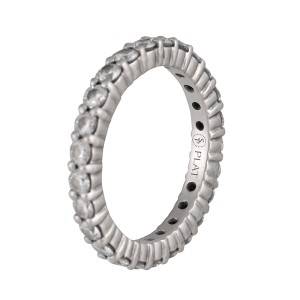 Sasha Primak Platinum Mutual Prong Round Diamond Eternity Band Ring Size 4.5