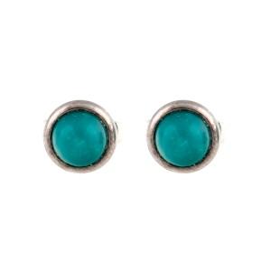 Tiffany & Co. Elsa Peretti Sterling Silver Turquoise Stud Earrings