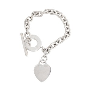 Tiffany & Co. Heart Toggle Sterling Silver Link Bracelet