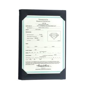 Tiffany & Co. Lucida Platinum 0.44ct. Diamond Engagement Ring Size 7