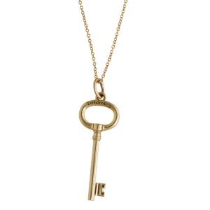 Tiffany & Co. 18K Yellow Gold Key Necklace