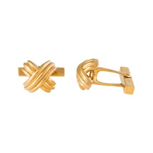 Tiffany & Co. 18K Yellow Gold X Cufflinks