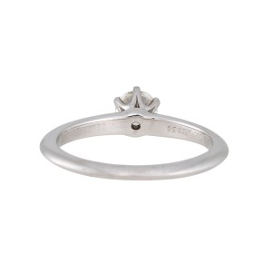 Tiffany & Co. Platinum with 0.42ct Diamond Engagement Ring Size 6.75