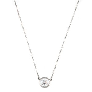 Tiffany & Co. Platinum 0.75ct. Elsa Perreti Diamonds by the Yard Pendant Necklace