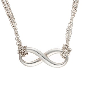 Tiffany & Co. 925 Sterling Silver Infinity Pendant Necklace