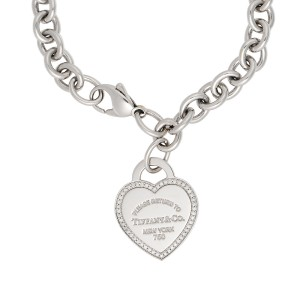 0 26ctw Diamond Heart Tag Bracelet
