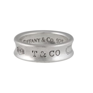 920e15fd1 Tiffany & Co. Sterling Silver 1837 Ring Size 8 | Tiffany & Co. | Buy ...