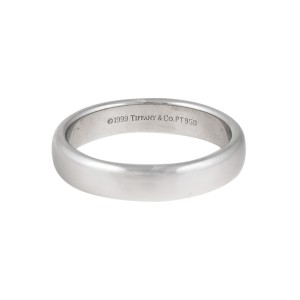 Tiffany Co Classic Platinum Mens Wedding Ring Size 9 Tiffany