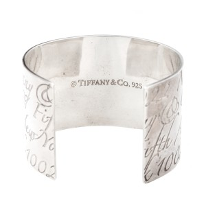 56ac6df179425 Tiffany & Co. Sterling Silver Notes Wide Cuff Bracelet