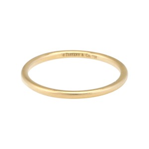 Tiffany & Co. 18k Yellow Gold Thin Stack Ring Size 7.75