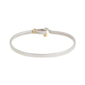 Tiffany & Co. Sterling Silver and 18K Yellow Gold Hook Bracelet