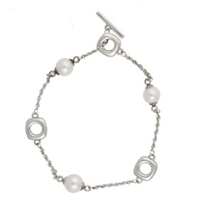 4870917764401 Tiffany & Co. 925 Sterling Silver with Cultured Freshwater Pearl Bracelet