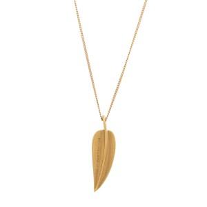Tiffany & Co. Angela Cummings 18K Yellow Gold Leaf Rare Necklace