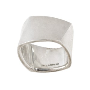 Tiffany & Co. Frank Gehry Ring Fold Wide Band Retired Sterling Silver Ring