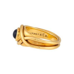 Tiffany & Co. 18K Yellow Gold Iolite Ring Size 6.5
