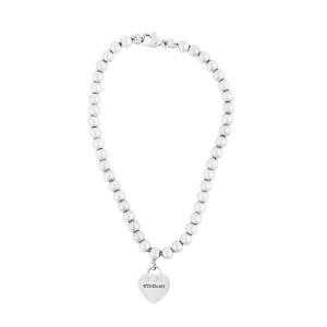 Tiffany & Co. Sterling Silver Beaded Heart Bracelet