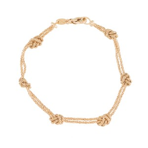 Tiffany & Co. 18k Yellow Gold Knot Bracelet