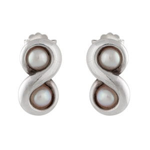 30e68f436 Sterling Silver Infinity Pearl Earrings | Tiffany & Co. | Buy at TrueFacet