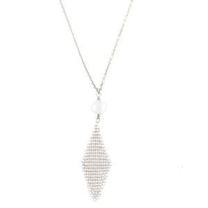 Tiffany & Co. Peretti Sterling Silver Pearl Drop Necklace