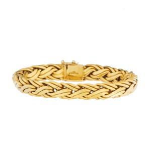 Tiffany & Co. 18K Yellow Gold Weave Link Bracelet