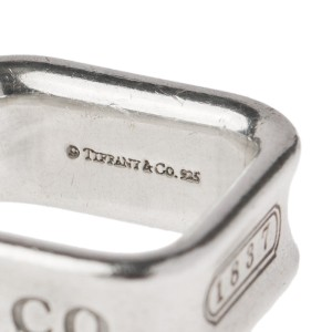 Tiffany & Co. 1837 Sterling Silver Square Ring